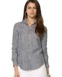 women u0027s black and white vertical striped dress shirt black dress