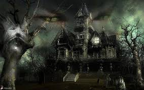 animated haunted house desktop wallpaper wallpapersafari