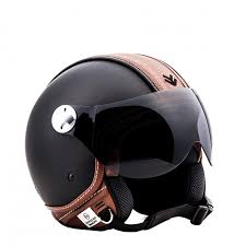 leather motorcycle helmet arrow av 84 vintage deluxe jethelmet jet retro vespa motorcycle