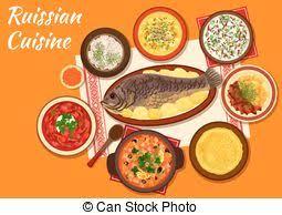 une russe en cuisine russe menu cuisine menu cadre cuisant aliment chef