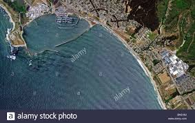 california map half moon bay aerial map view above pillar point harbor half moon bay san mateo