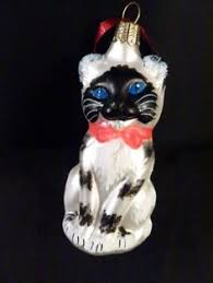 black cat sm kitten european blown glass ornament ebay