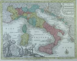 Maps Of Italy by Map Of Italy 1740