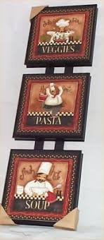 FAT CHEF Hugs Kisses Dishes KITCHEN SIGN Wall Hanger Plaque Cucina