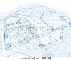 house plan blueprints architecture blueprints house plans stock photo 487077766