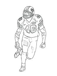 football player coloring page funycoloring