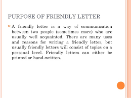 best solutions of friendly letter introduction about worksheet