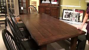 Oak Dining Room Table Sets Attic Heirlooms Rustic Oak Extension Leg Dining Table By Broyhill