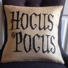 halloween pillow cover hocus pocus witch burlap hessian pillow