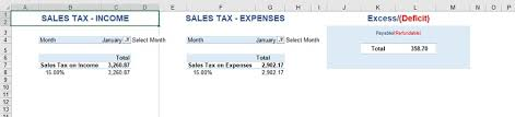 Tax Template For Expenses by Free Accounting Excel Template