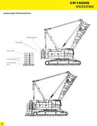 hydraulic crawler crane ck1600g kobelco crane east u0026 west