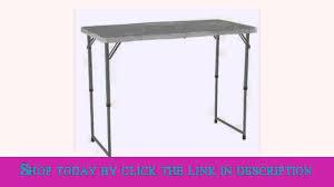 4 foot adjustable height table lifetime 4 foot adjustable 4428 height folding utility table youtube