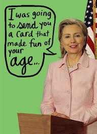 funny hillary clinton cards cardfool free postage included