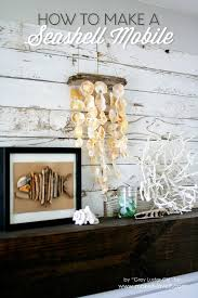 home at the beach decor how to make a seashell mobile using sea shells that you collect at