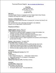 sample functional resume template resumeguide org