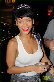 rihanna hoop earrings rihanna big hoop earrings for da silvano dinner photo 2944425
