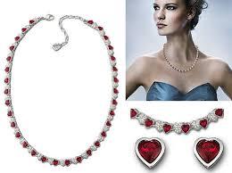 swarovski necklace red images Swarovski lala necklace designer jewellery jpg