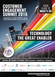 2016 customer engagement summit your guide to what u0027s on by