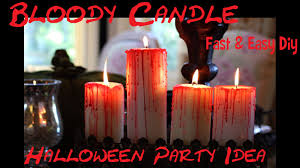halloween flameless candles diy bloody candle candele insanguinate fai da te halloween