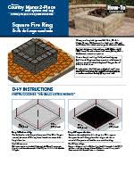 Square Fire Pit Kit by Fire Pits Keystone Retaining Wall Systems