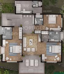 4000 sq ft 4 bhk floor plan image silverglades hill home villa