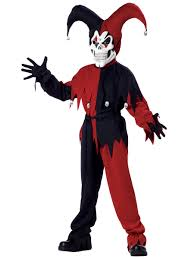 child evil jester childrens costume 00221 fancy dress ball