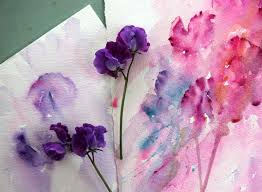 Sweet Pea Images Flower - watercolours with life painting from life sweet pea in watercolour