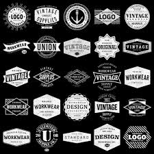 label templates for adobe photoshop logo templates vintage workwear thevectorlab