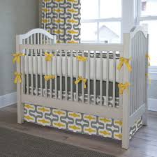gray and yellow embrace crib bedding contemporary Grey And Yellow Crib Bedding