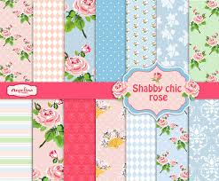 Shabby Chic Rose by 14 Shabby Chic Rose Digital Scrapbook Paper Pack For Invites