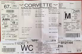 corvette build sheet corvette spotlight of the month roger s corvette center