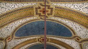 Ceiling Art Tiffany Art Glass Mosaic Ceiling Macy U0027s Field U0027s Chicago Youtube