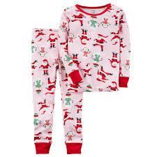 s santa snowman top bottoms pajama set