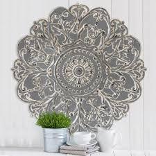 Stratton Home Decor Galvanized Metal Daisy Wall Decor S The