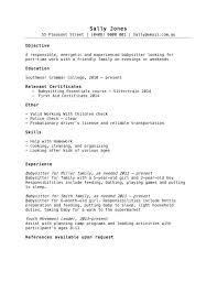 babysitting resume template sample nanny resumes nanny resume