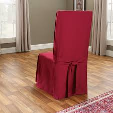 Red Dining Room Chair Covers by Sure Fit Cotton Duck Long Dining Room Chair Cover Hayneedle