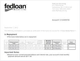 Loan Outstanding Letter payments billing myfedloan