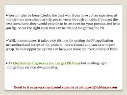 attention electronics engineers get canada pr visa services
