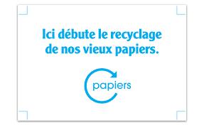 recyclage papier de bureau le tri au bureau stickers ici débute le recyclage ecofolio