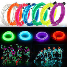 3m led flexible el wire neon glow light strip 12v for