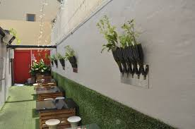 wall mounted herb garden recycling urban greenspace
