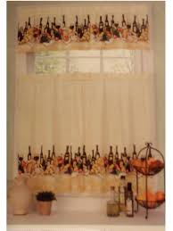Wine Bottle Kitchen Curtains Merlot Wine Themed Kitchen Curtains Set Update Your Grape Or Wine