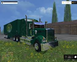 kenworth truck and trailer kenworth john deere edition truck and trailer v2 0 farming