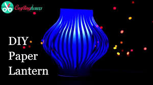 How To Make Paper Light Lanterns - diy paper lanterns craft for diwali decoration