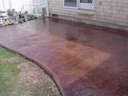 Stain Concrete Patio by Brushed Concrete Google Search Backyard Deck Firepit