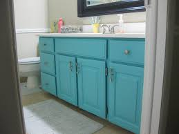 painted the bathroom vanity today why should it be any color