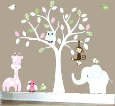 White Tree Wall Decal Nursery Baby Bedroom Wall Baby Boy Wall Decal Nursery White Tree By