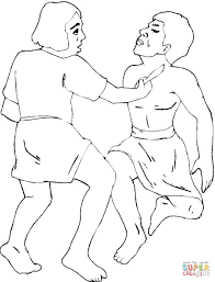 adam and eve with cain and abel coloring page free printable