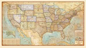 Unites States Map by United States Antique Wall Map By Compart Maps