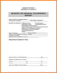 template incident report form 6 example incident report writing legal resumed 6 example incident report writing